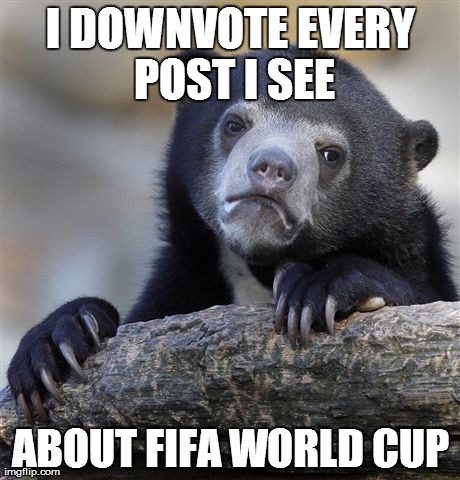 Confession bear cannot bear football..