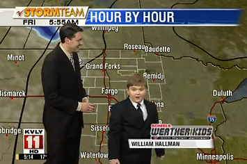 Kid Weatherman Brings You The Cutest Forecast Ever