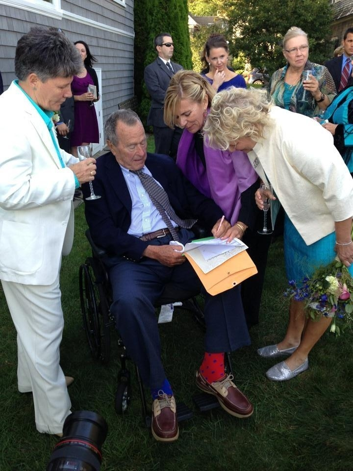 George H.W. Bush Was A Witness To A Maine Lesbian Couple's Wedding