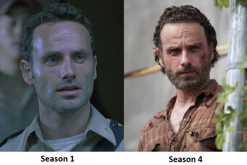 It's jarring to see Rick from Season 1 again. The transformation is incredible...somewhat sad as well.