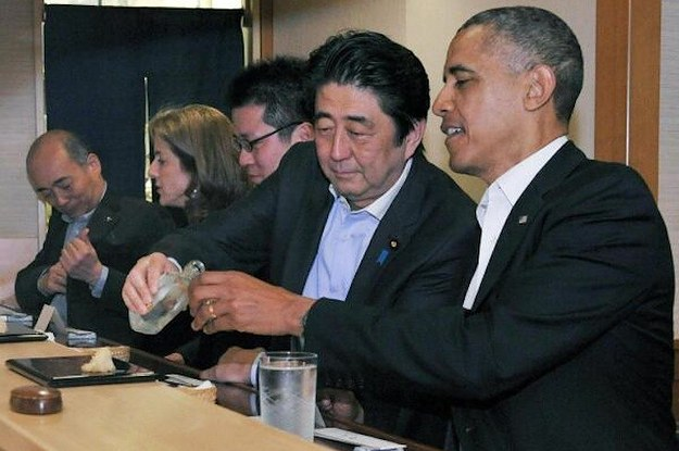 "Obama Eats ""Best Sushi I've Ever Had"" With Japanese Prime Minister"