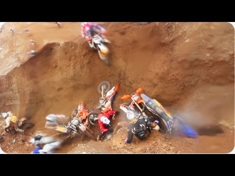 Dozens Of Dirtbikers Fall Into Pit Of Despair