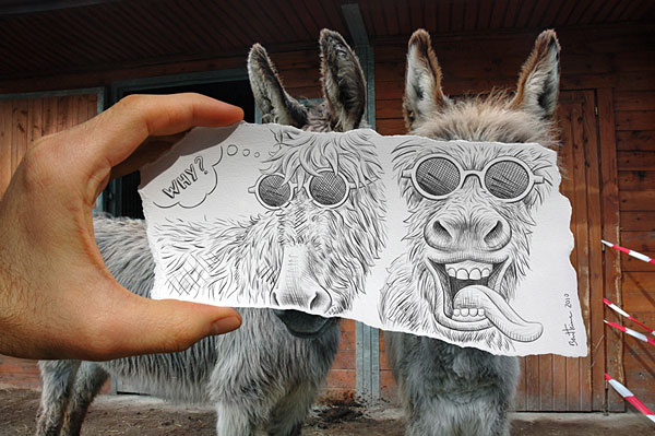Pencil versus Camera by Ben Heine