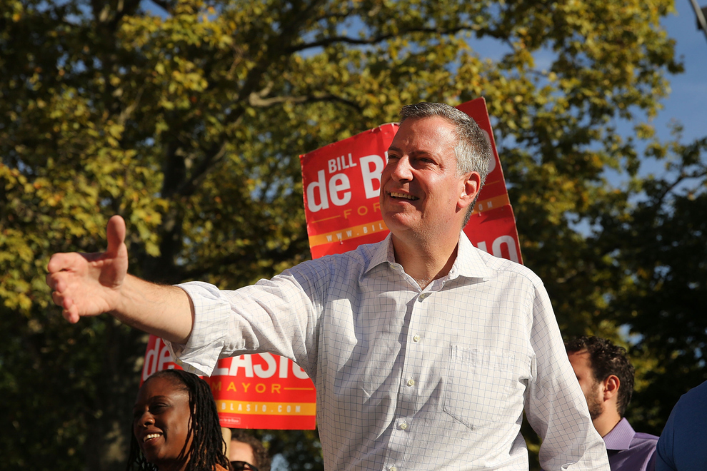Bill De Blasio, Confident But Cautious, Says He Expects A Run-Off