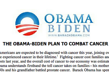 Obama's 2008 Plan Called To Double Cancer Research Funding, But It Has Increased Only Slightly