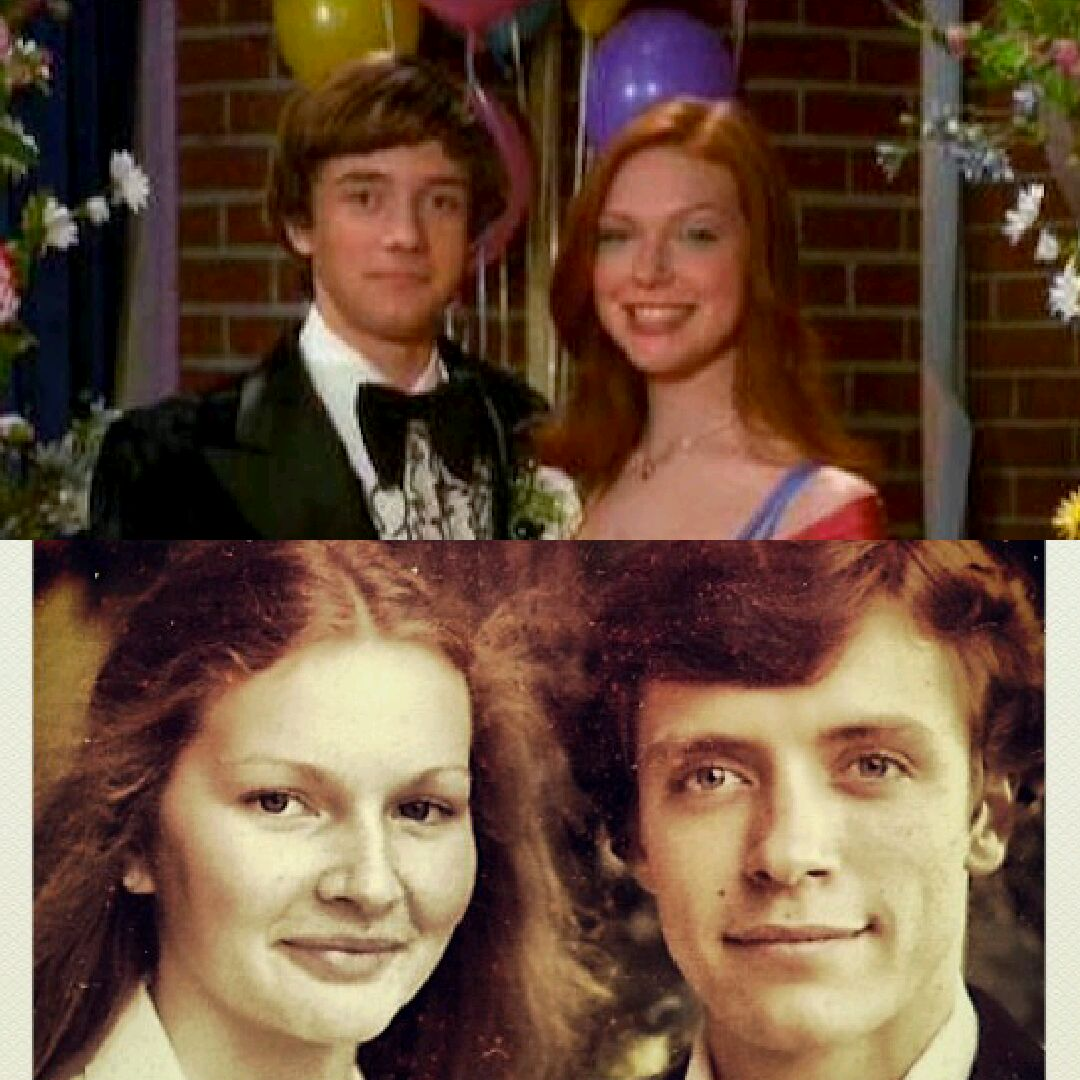 "My parents are Eric and Donna from ""That 70's Show"""