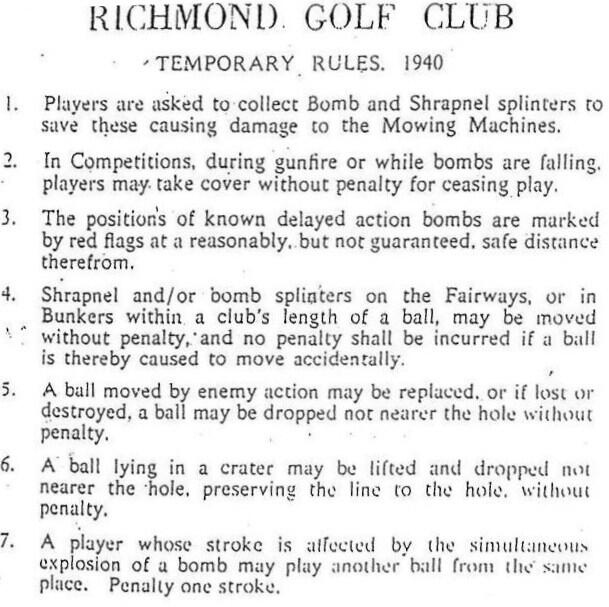 This List Of Wartime Golf Rules Might Just Be The Most British Thing That Has Ever Happened
