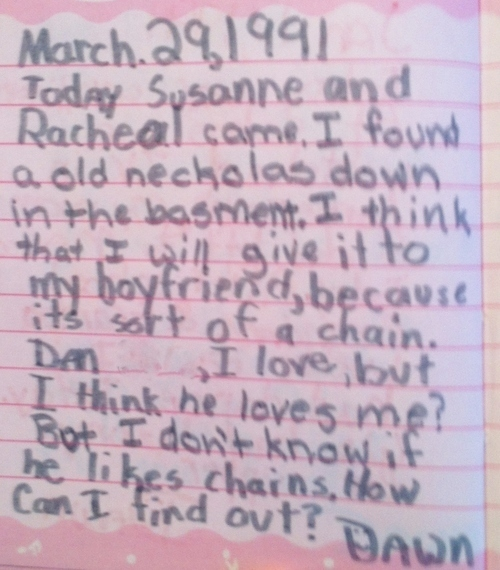 This Girl's Diary From The '90s Is Wonderfully Embarrassing