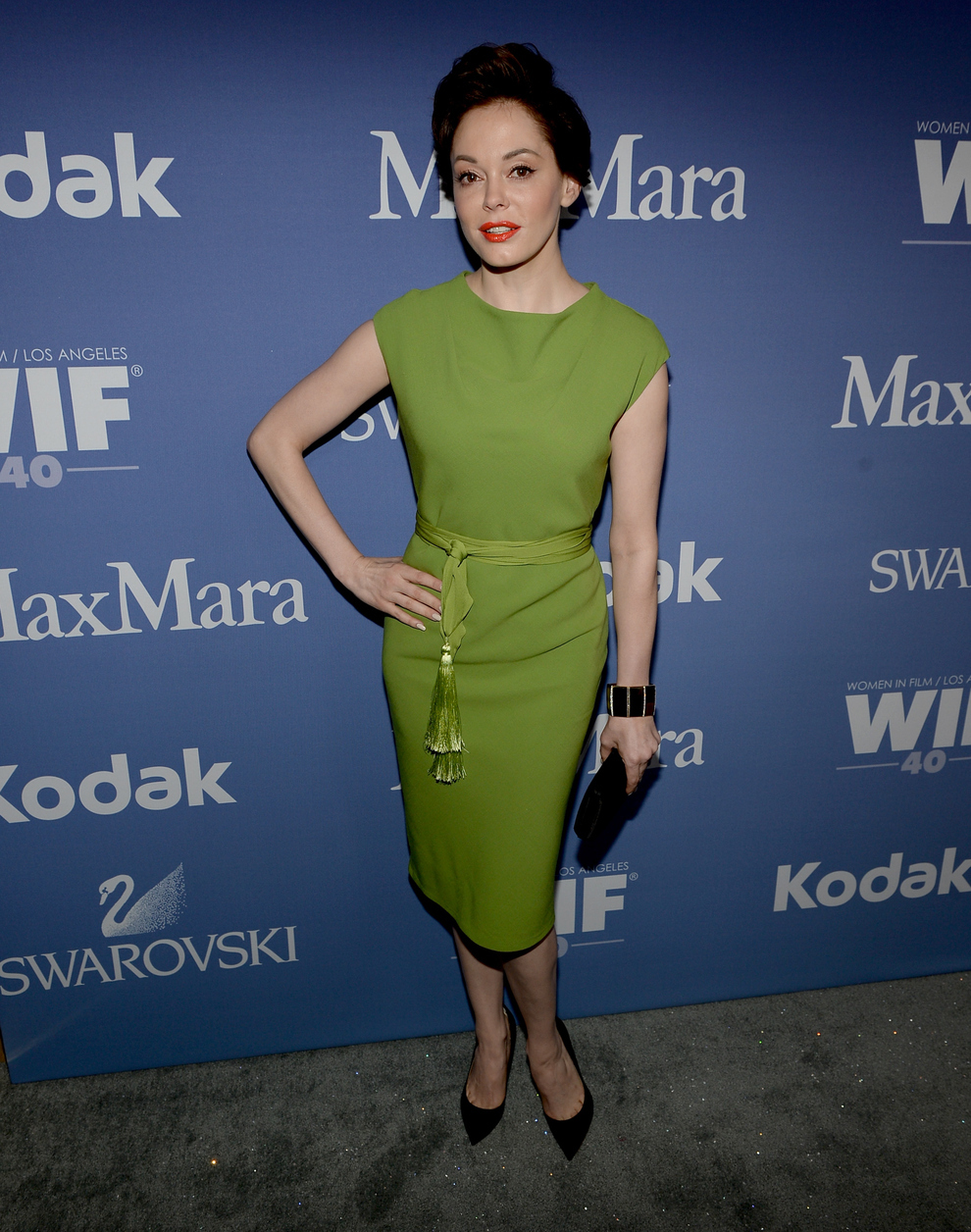 Rose McGowan At The 2013 Crystal + Lucy Awards