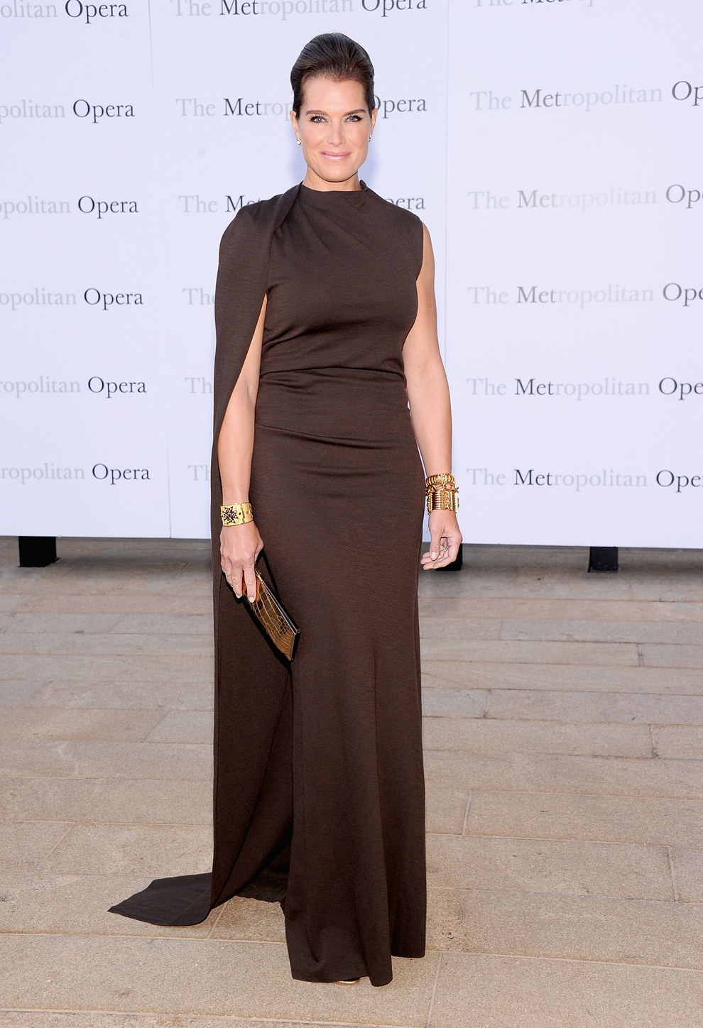 Brooke Shields At The Metropolitan Opera House In New York City