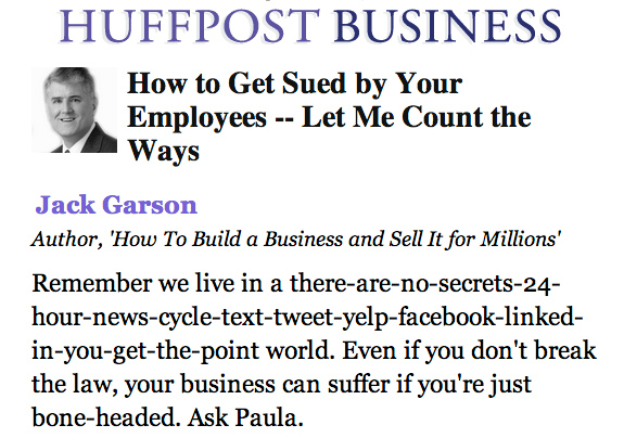 Community Post: How To Get Sued By Your Employees