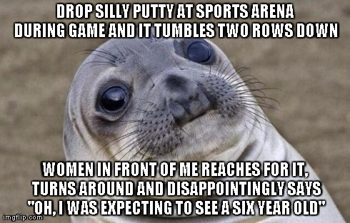 "I'm 24 years old. She followed this with ""No offense intended"", left before halftime and never returned to her seat"