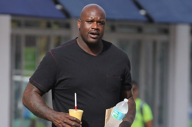 Shaquille O'Neal Holds World's Tiniest Coffee Cup
