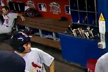 Cardinals Player Caught With His Pants Down In The Dugout