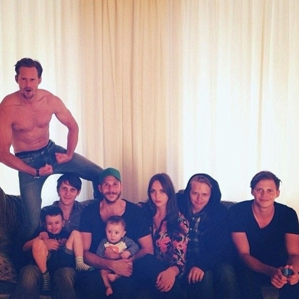 Alexander Skarsgard's Family Portrait Is As Amazing As You Thought It Would Be