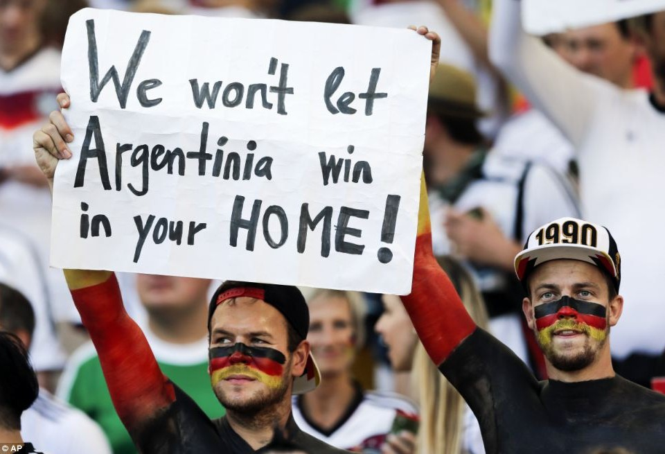 Good Guy Germany: Destroyed Brazil on semifinals. Defeats Argentina a few days later.