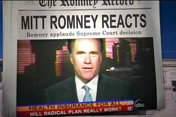 "Democrats Release Video Of Romney ""Applauding"" The Supreme Court Decision"