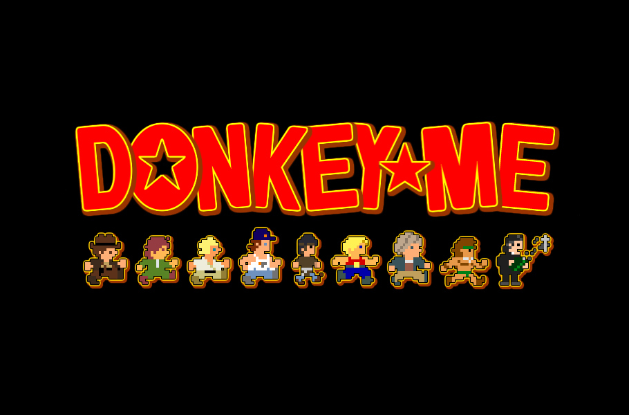 "Community Post: ""Donkey Me"" Refreshes ""Donkey Kong"" With '80s Movie Skins And The Results Are Just Absolutely Bananas"