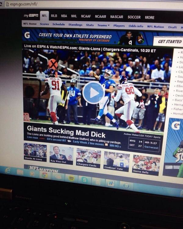 Someone at ESPN is losing their job today...