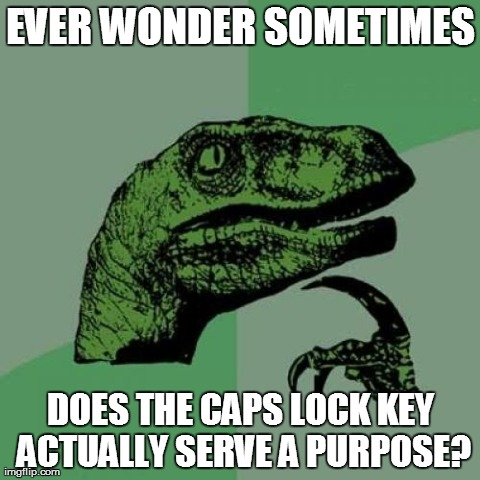 Does the caps lock key serve any purpose asside from annoy everyone?