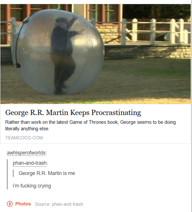 He might be doing research too