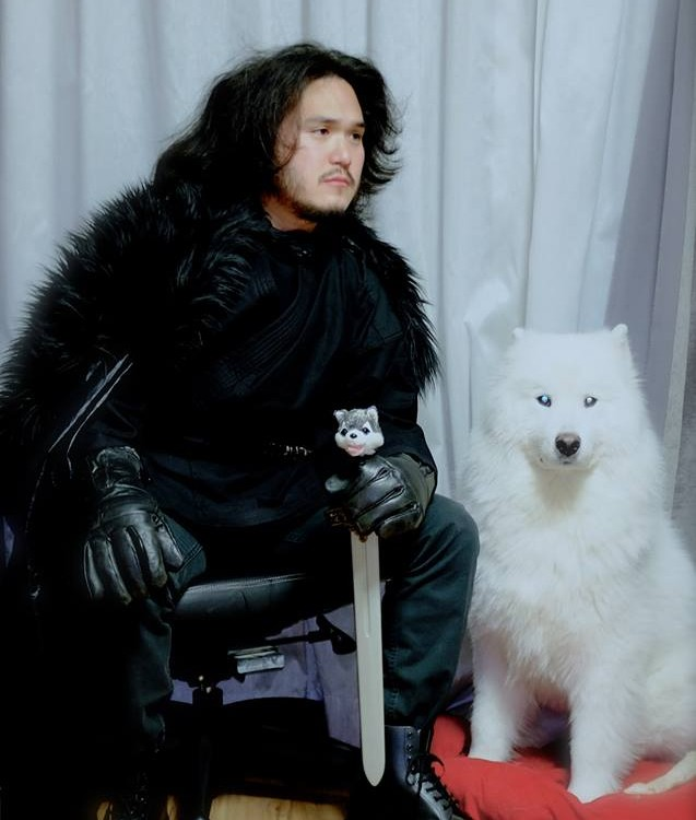 My Korean friend & his dog as Game of Thrones