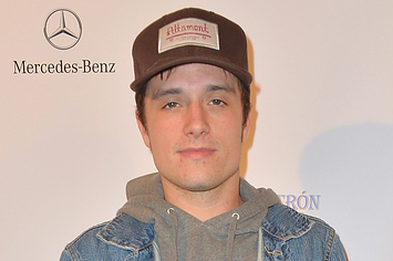 Josh Hutcherson At The Lacoste/GQ Super Bowl Party