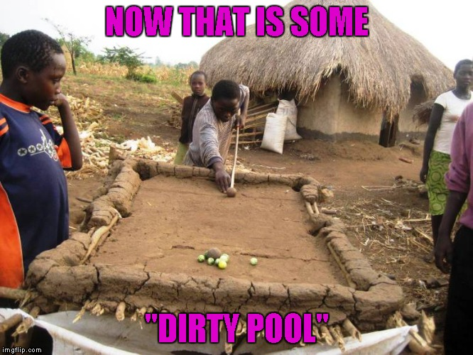 "If you can play pool on that, just imagine when you get to a ""real"" pool table!"
