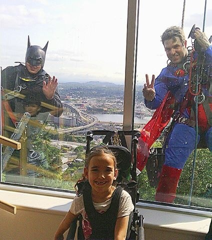 This happened at Shriners Children Hospital today in Portland