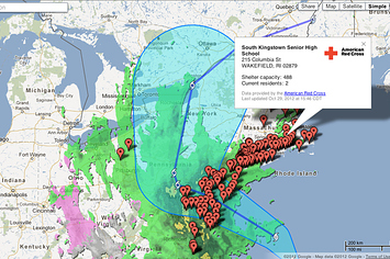Google's Hurricane Sandy Crisis Map
