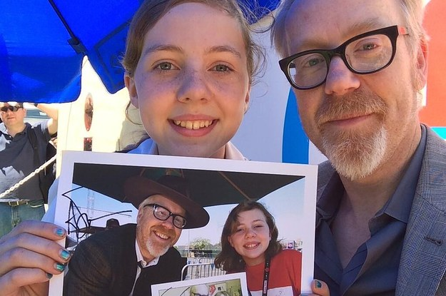 Mythbuster Adam Savage Took The Same Photo With A Fan Five Years In A Row