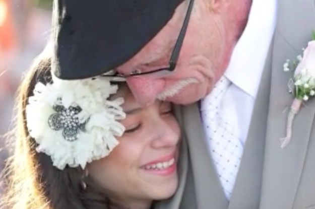Dad With Terminal Cancer Walks 11-Year-Old Daughter Down The Aisle In Surprise Birthday 'Wedding'