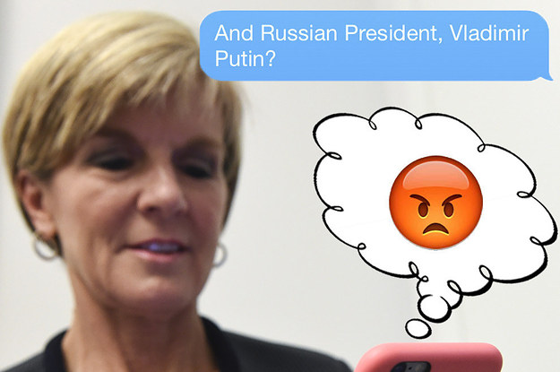 Julie Bishop Describes Serious Diplomatic Relationships With Emoji