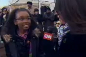 "Inauguration Spectator To CNN: ""My Daddy Got Me A Private Plane To Come"""