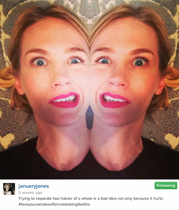 January Jones' Instagram Account Is An Underrated Gem That Will Make You Want To Be Her Best Friend