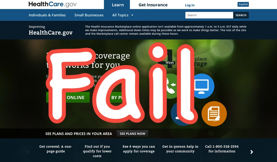 "HealthCare.Gov Official: Part Of Site ""Failed So Miserably"" We Couldn't Let People Use It"