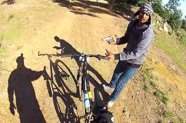 Mountain Biker Captures His Own Gunpoint Robbery On A GoPro Helmet
