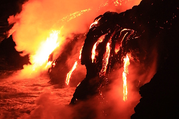 10 Awesome Photos Of Hawaii's Volcano Spewing Lava Into The Ocean