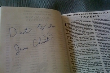 Autographed Bible Found In Hotel Drawer