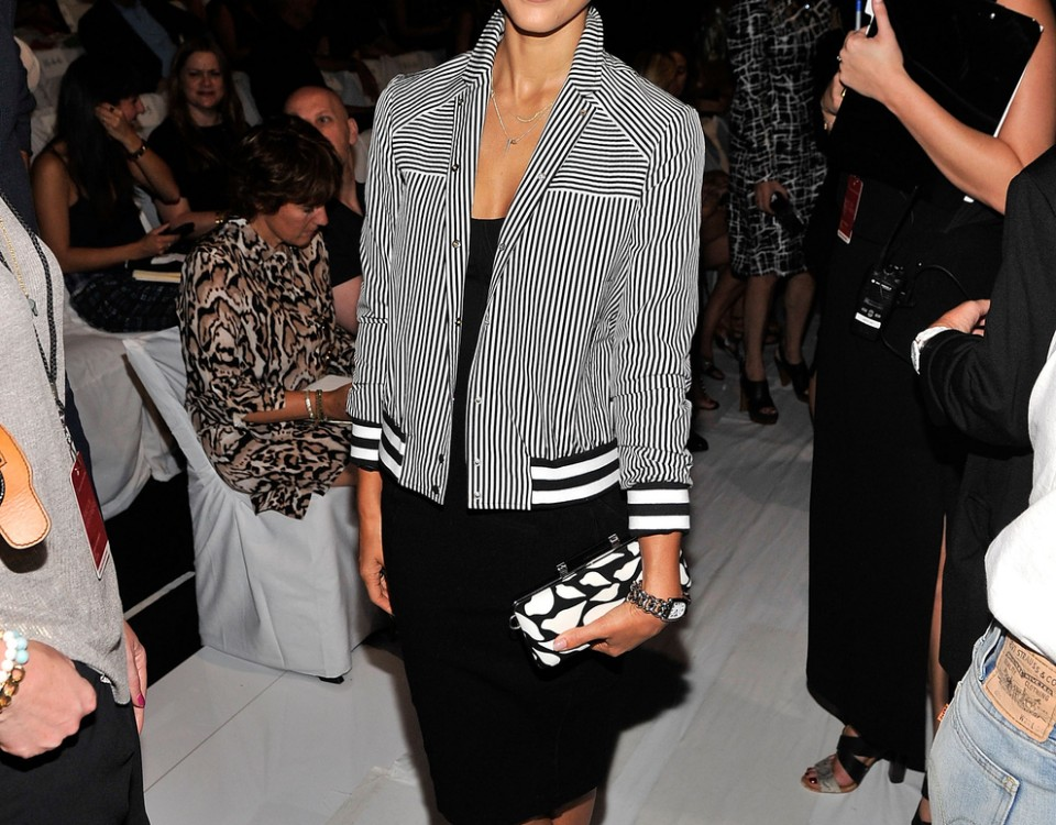 Jessica Alba At The Diane Von Furstenberg Spring 2014 Fashion Show
