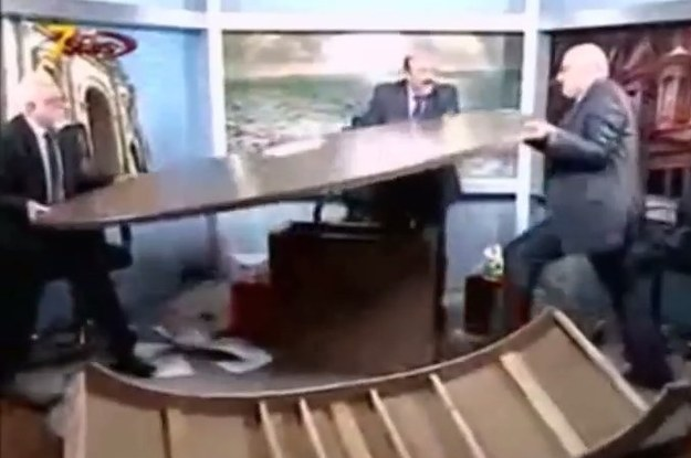 TV Guests Wreck Studio After Fight Breaks Out During Syria Debate