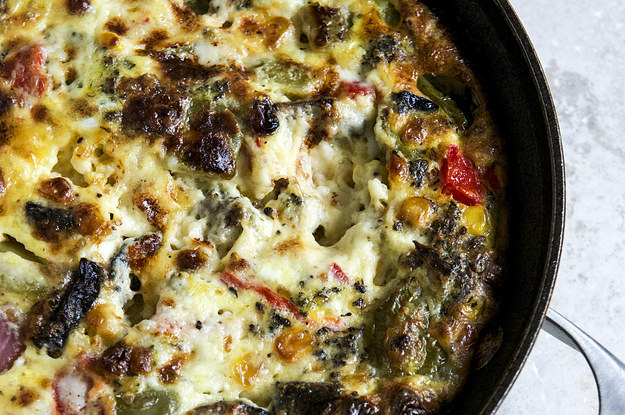How To Make A Roasted Vegetable Queso Frittata
