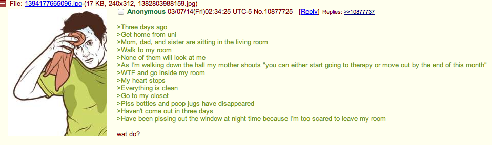 OP loses his shit