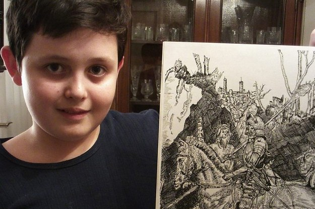 Be Prepared To Have Your Mind Blown By This 11-Year-Old Prodigy's Detailed Drawings