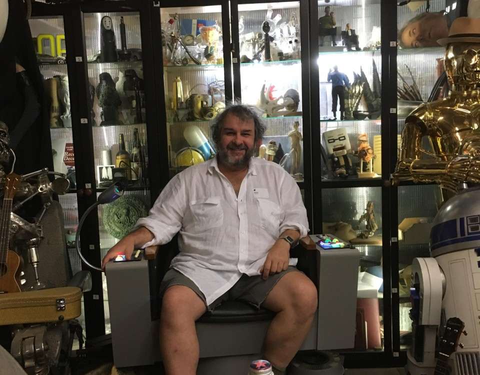 Peter Jackson came by my shop yesterday!