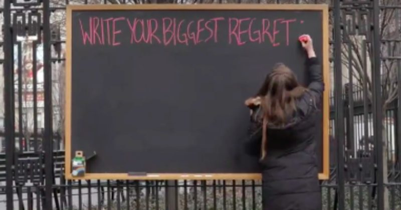 This Simple Chalkboard Reveals Something Important About The Nature Of Regret