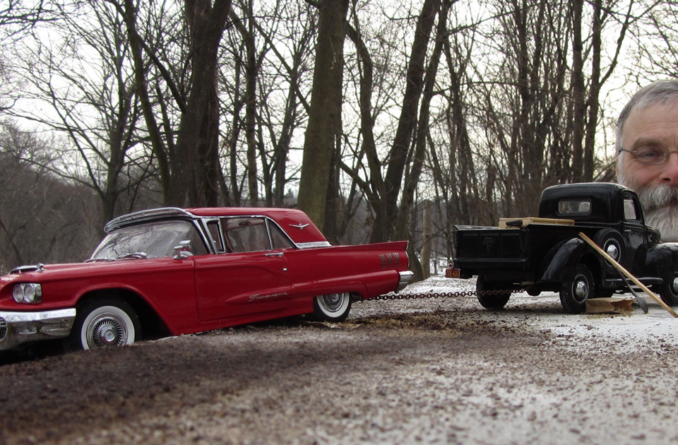Artist Uses Miniature Car Models, Perspective And A $250 Camera To Create Realistic Historical Photos