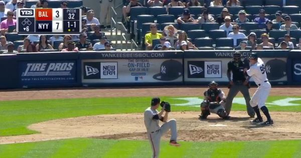 WATCH: A Yankees outfielder just hit one of the longest home runs ever recorded