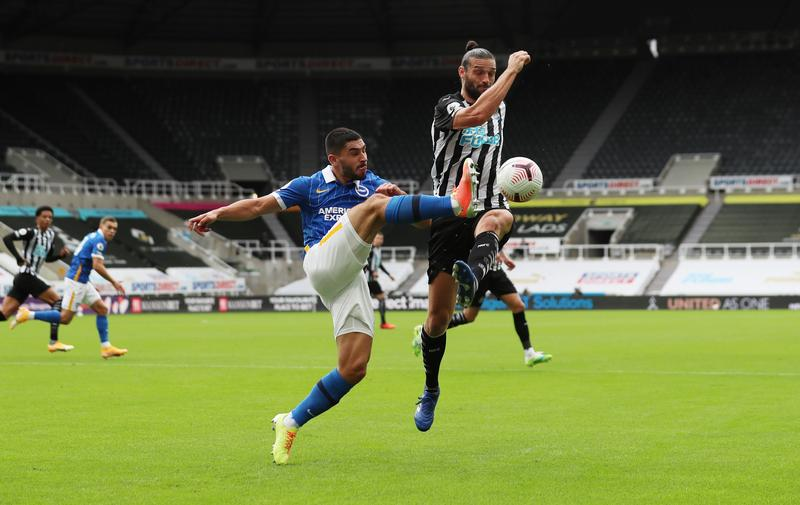 UPDATE 1-Soccer-Maupay strikes twice as Brighton ease to win at Newcastle